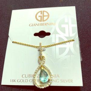18k Gold/Sterling Silver Pendant Necklace